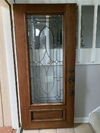 Gorgeous Leaded Glass Front Door 3068 L/H Swing
