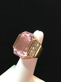 Kunzite and diamond ring perfect for your Valentine!