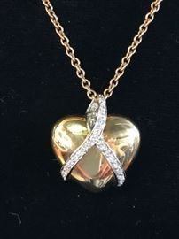 Gold heart with diamonds - perfect for your Valentine!