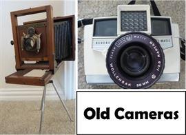 Antique and vintage cameras