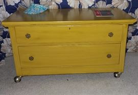 painted retro blanket chest