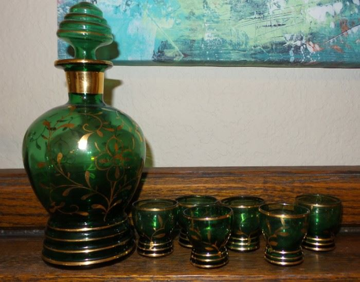 old decanter set