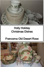 Old Desert Rose - Christmas dinner set