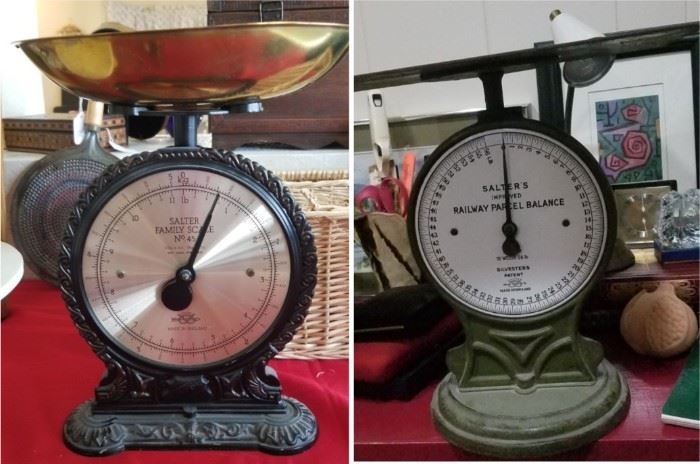 Vintage balancing scales with Railway Parcel scale