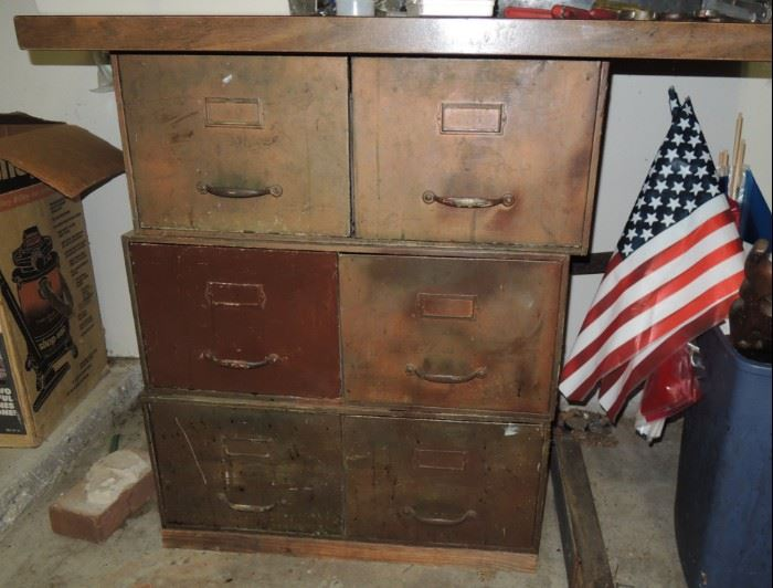 Old file drawers