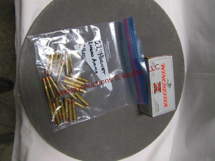 99 - .22 Hornet ammo: 1 - box Winchester 46 gr hollow