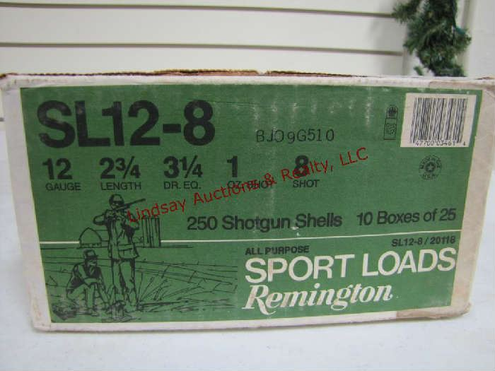 102 - (1) case of 250 rds - 10 boxes of 25 Remington