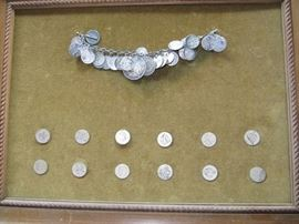 Vintage/Antique coin/charm bracelet
