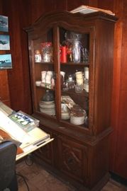 China Cabinet Loaded with Decorative Serving Pieces