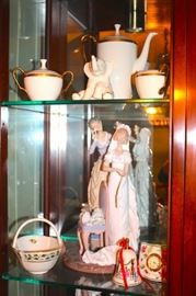 30+ Lladro's in Many Sizes and Decorative Serving Pieces