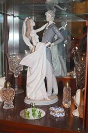 30+ Lladro's in Many Sizes and Decorative Serving Pieces with Bric-A-Brac