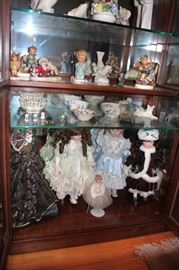 Assorted Decorative Dolls, Decorative Bowls, Hummels and other Figurines