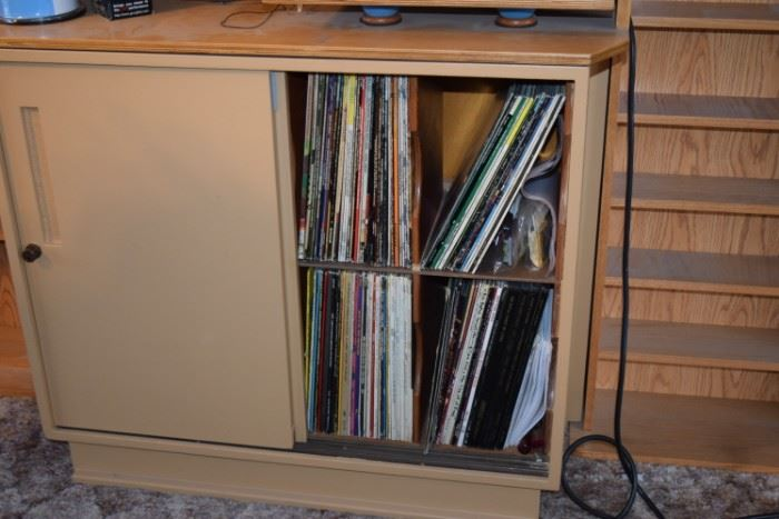 Electronics, Cabinet, Records, & CD'S, DVD'S