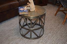 Metal Table W/Decor