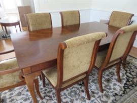 DINING TABLE WITH 6 CHAIRS DREXEL HERITAGE
