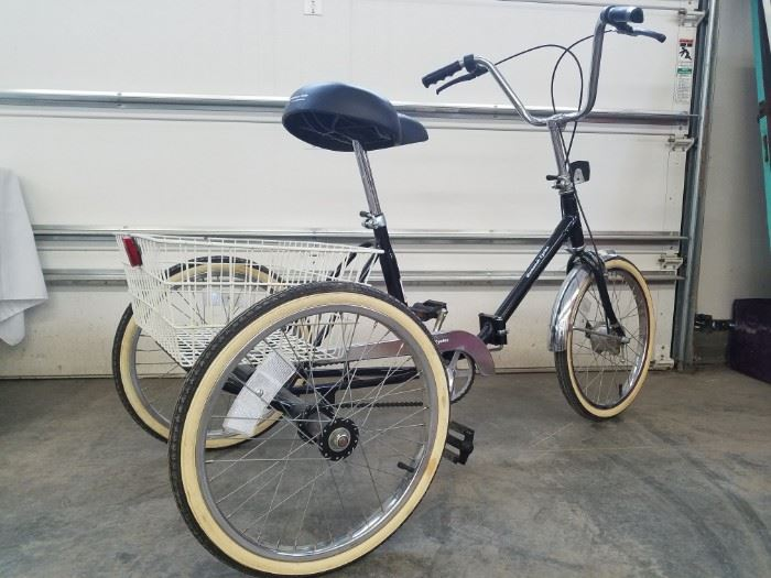 Classic Worksman 3Wheel Cycle with Basket