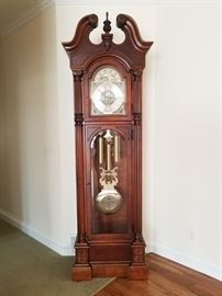 Howard Miller Grandfather Clock Ambassador Collection, Cherry Wood