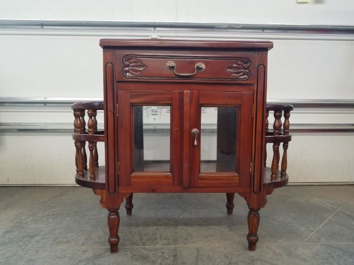 Unique Cherry Wood Stained Cabinet