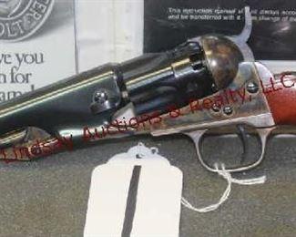 1 - COLT 1862 POCKET POLICE 36 REVOLVER UNUSED, BOX