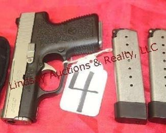 4 - KAHR PM9 9MM AUTO 2-MAGS, HOLSTER, MAG HOLDER