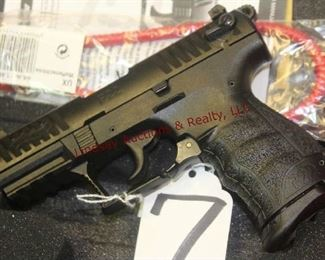 7 WALTHER P22 22 AUTO 1-MAG, CASE