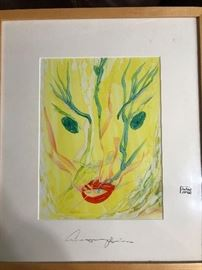 Original Anthony Hopkins watercolor