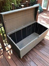 Outdoor storage chest.