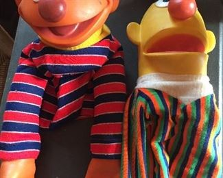 Vintage Bert and Ernie Puppets