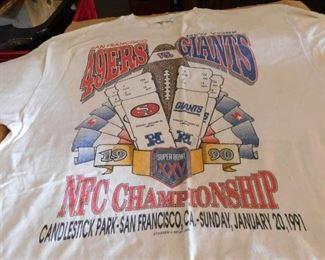 1991 49ers vs. Giants Championship T-shirt