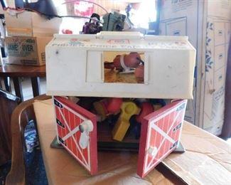 Vintage Fisher Price Barn Playset