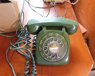 Green Rotary Dial Telephone
