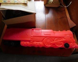 Vintage Marx Whistle Clanging Plastic Locomotive