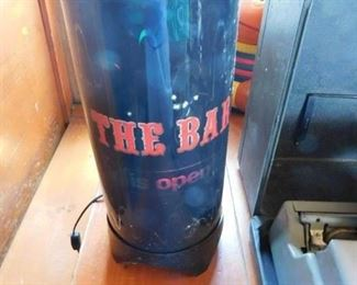"""Vintage """"The Bar is Open"""" Motion Lamp"""