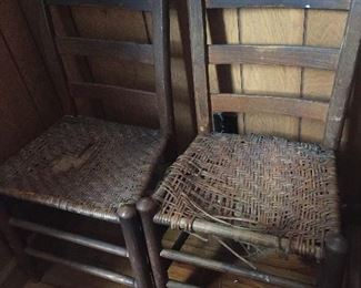 Vintage Cane Bottom Chairs