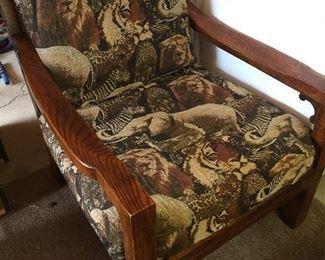 Vintage Animal Print Chair