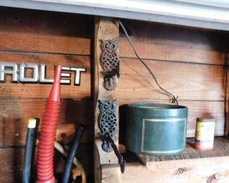 Figural Metal Owl Hangers