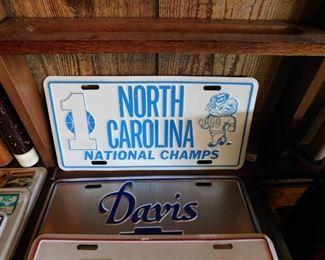 Vintage UNC License Plate
