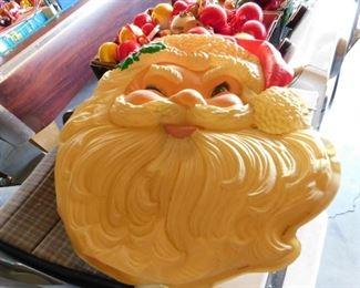 Vintage Plastic Santa Display