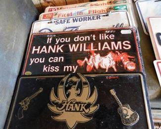 Vintage Hank Williams License Plates