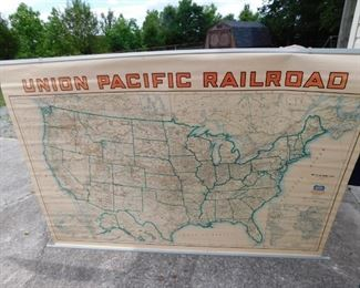 Vintage Union Pacific Railroad Map(United States)