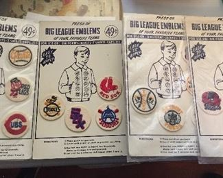 Vintage Baseball Patches(Red Sox, Colts, Dodgers, etc...)