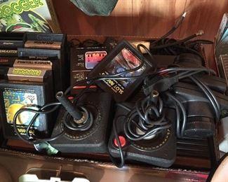 Vintage Atari with Games