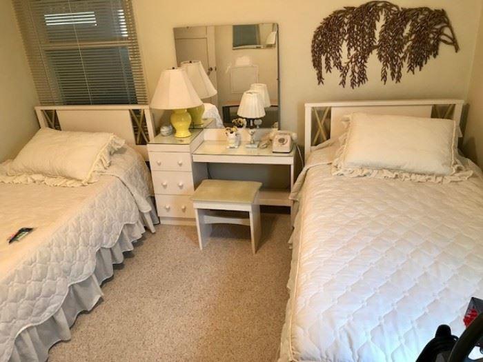 1960s mod bedroom set Hollywood Regency style!
