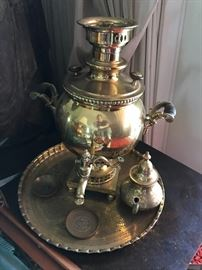 Antique Solid Brass Samovar