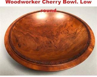 Lot 1 Artisan H BLATT Woodworker Cherry Bowl. Low round