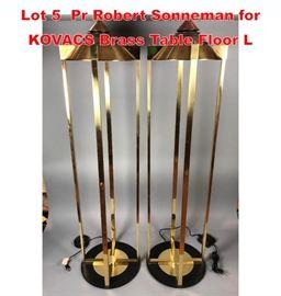 Lot 5 Pr Robert Sonneman for KOVACS Brass Table Floor L