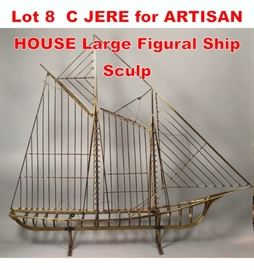 Lot 8 C JERE for ARTISAN HOUSE Large Figural Ship Sculp