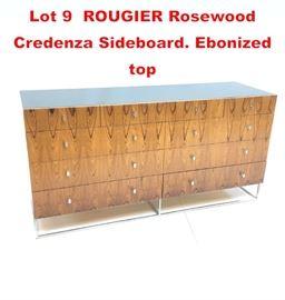Lot 9 ROUGIER Rosewood Credenza Sideboard. Ebonized top