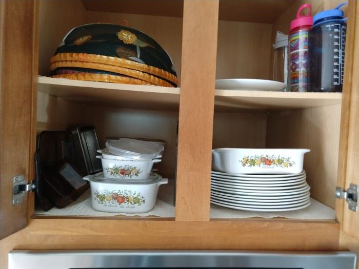 "WhatAmerican kitchen isn't complete without a set of Corelle ""Spice of Life"" cookware?!?"