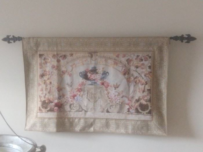 Vintage French wall tapestry.